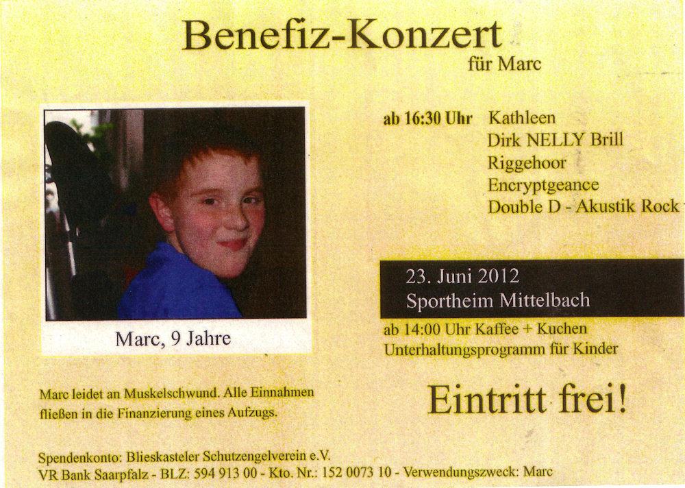 Benefizkonzert für Marc aus Hengstbach